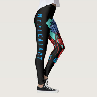 to cyber skull neplealart 2 leggings