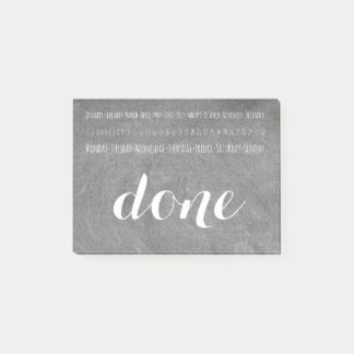 To Do Done Calendar Chalkboard Look Typography Post-it Notes