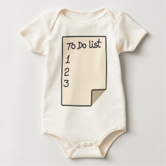 To do list baby bodysuit