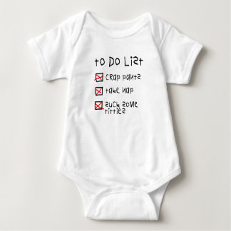 To Do List Cute Infant Outfit Baby Bodysuit