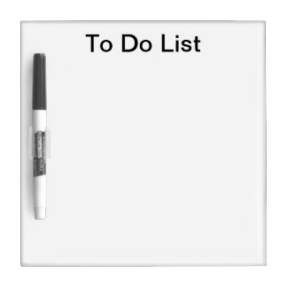 To Do List Dry Board