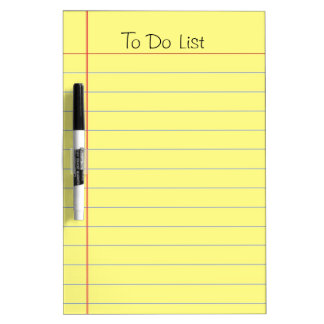 To Do List Dry-Erase Whiteboard