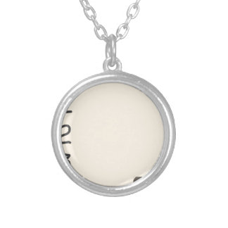 To do list round pendant necklace