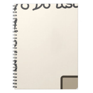 To do list spiral note book