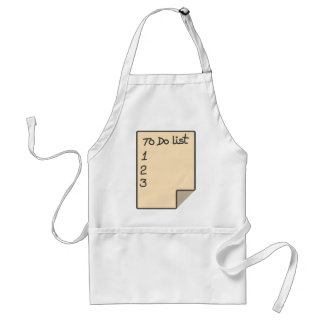 To do list standard apron