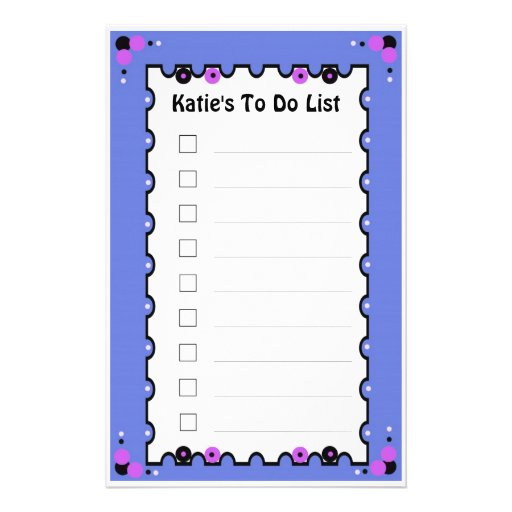 To Do List Stationery Paper