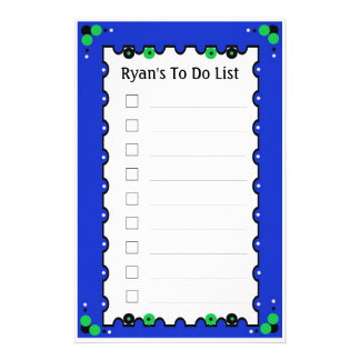 To Do List Stationery