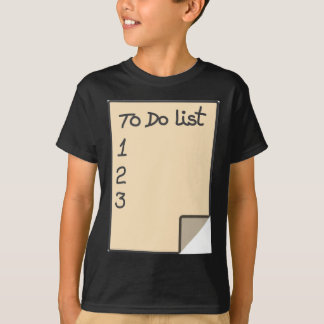 To do list t shirts