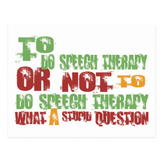To Do Speech Therapy Postcard