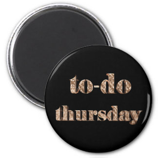 To-do Thursday Elegant Typography Black and Gold Magnet