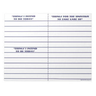 """""""To Do, To Be, To Manifest"""" Notepad (Blue)"""