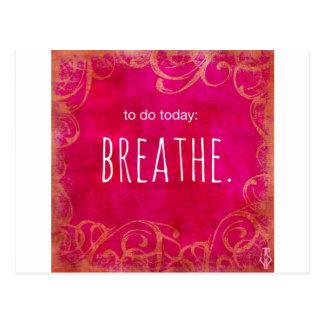 To Do Today: Breathe Postcard
