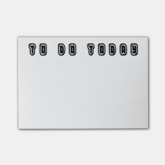 To Do Today Elegant Typography Black White Post-it Notes