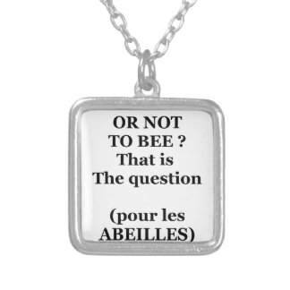 TO EEB GOLD NOT TO EEB? That is the question Silver Plated Necklace