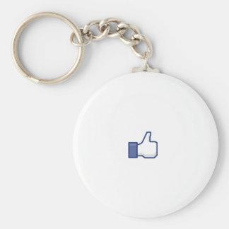 to enjoy Facebook Basic Round Button Key Ring