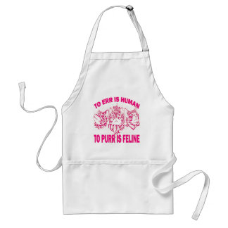 TO ERR IS HUMAN - TO PURR IS FELINE ADULT APRON