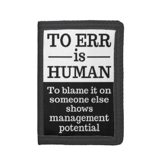 """""""To err is human"""" wallets"""
