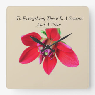 To Everything There Is A Season And A Time Square Wall Clock