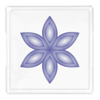 to flower violet acrylic tray