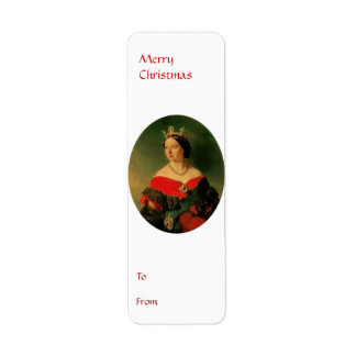 To From Merry Christmas Tag 2 Return Address Label