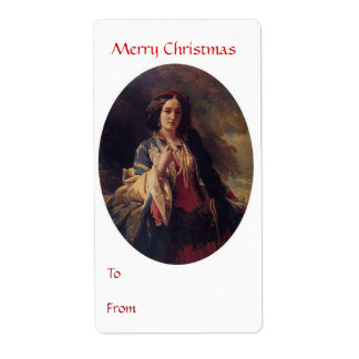 To From Merry Christmas Tag 2 Shipping Label