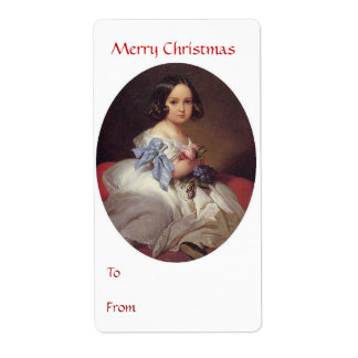 To From Merry Christmas Tag 3 Shipping Label