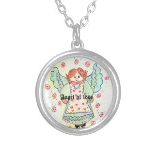 To glue Angel of the Love Round Pendant Necklace