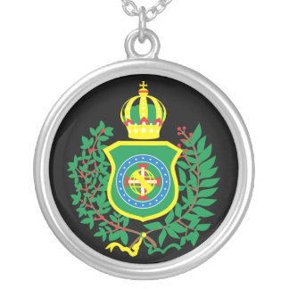 To glue Leafed the Silver with Imperial Blazon Silver Plated Necklace