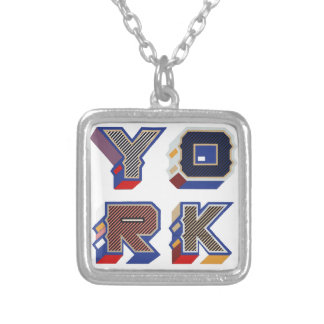 """To glue """"York """" Silver Plated Necklace"""