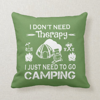 To Go Camping Cushion