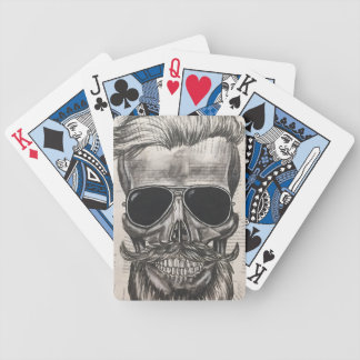 to hipster skull bicycle playing cards