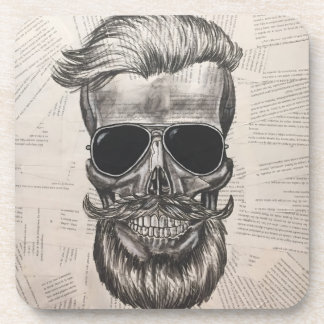 to hipster skull coaster