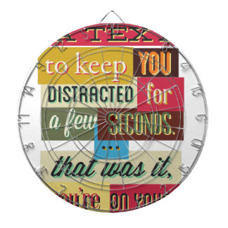 to keep you distracted great design dartboard