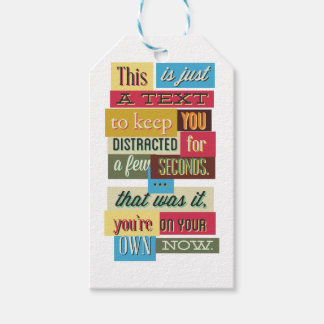 to keep you distracted great design gift tags