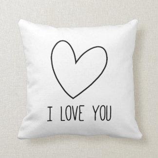 To kiss heart I Love You Cushion