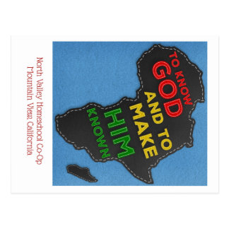 To Know God and to Make Him Known Felted Africa Postcard