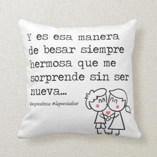 "to @lapoesiadear ""That way to kiss "" Cushion"