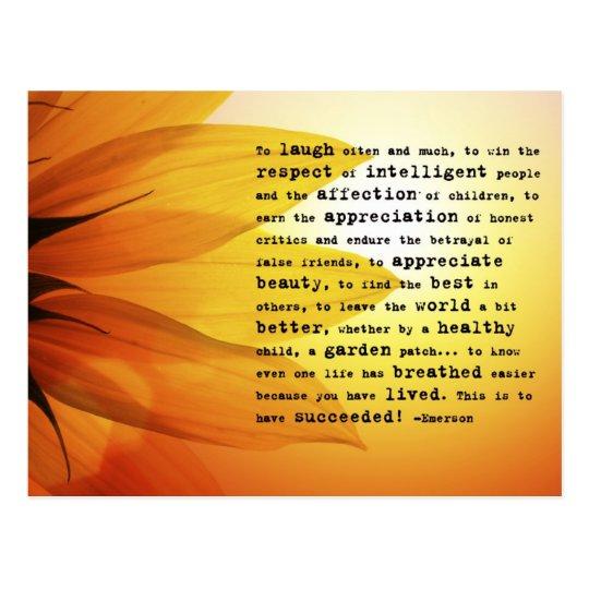 """To laugh often..."" Ralph Waldo Emerson Postcard"