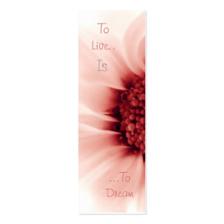To Live Is To Dream Bookmark Business Card Templates