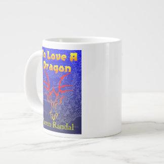 To Love a Dragon with map Large Coffee Mug
