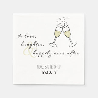 To Love, Laughter, and Happily Ever After Napkin Disposable Napkin