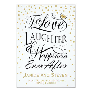 To love laughter and happiness ever after design card