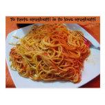 To Love Spaghetti Postcard