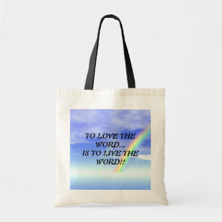 TO LOVE THE WORD... RELIGIOUS PURSE BUDGET TOTE BAG