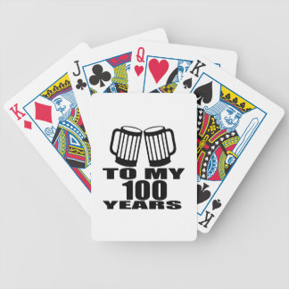 To My 100 Years Birthday Bicycle Playing Cards