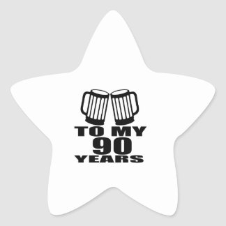 To My 90 Years Birthday Star Sticker