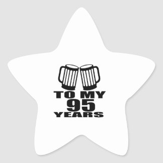 To My 95 Years Birthday Star Sticker