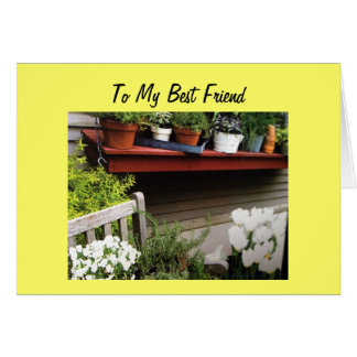 TO MY BEST FRIEND ON YOUR 50TH BIRTHDAY GREETING CARD