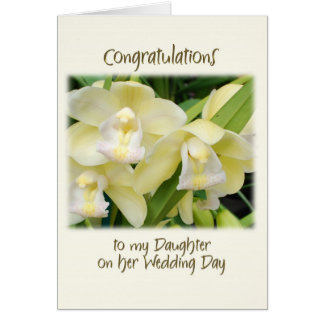 To my daughter on her wedding day greeting cards