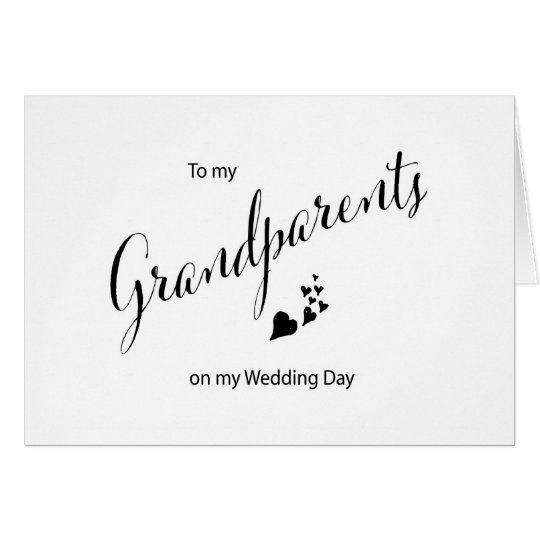 To My Grandparents on My Wedding Day Card